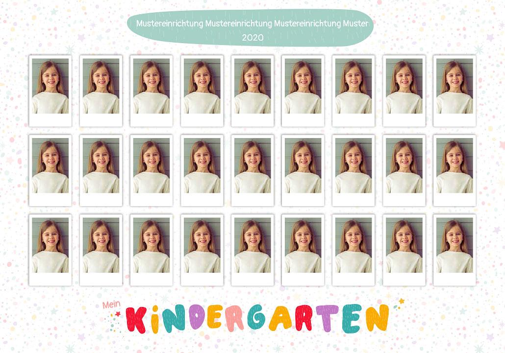 Einzelne Kinder-Porträtbilder als Gruppenfoto zusammengefasst
